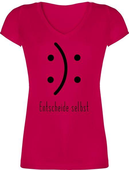 Damen T-Shirt mit V-Ausschnitt