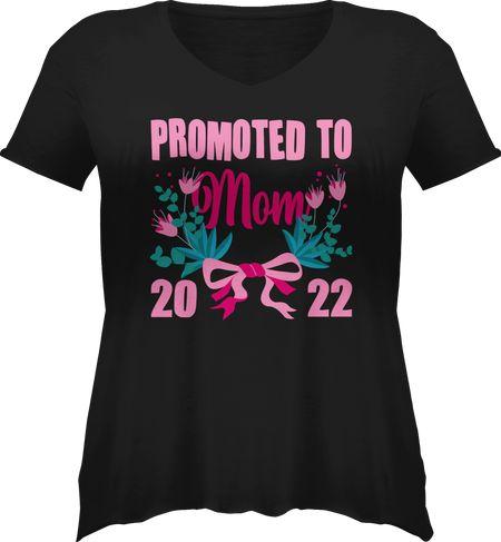 Damen Große Größen T-Shirt V-Ausschnitt
