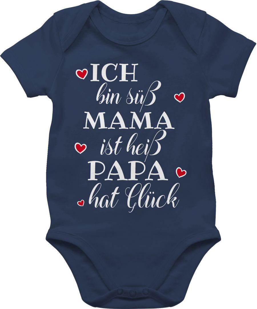 Ich bin süß Mama ist heiß Papa hat Glück Herzen