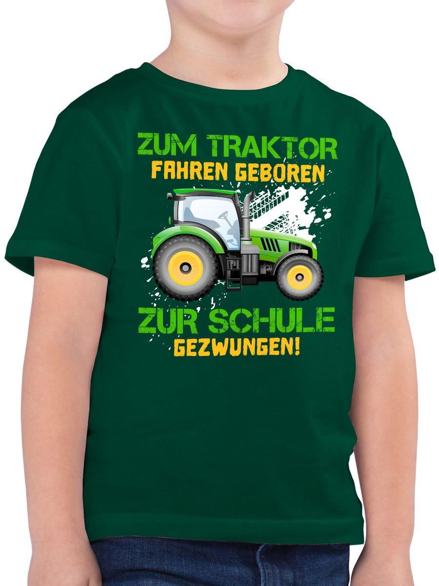 Zum Traktor fahren geboren zur Schule gezwungen bunt