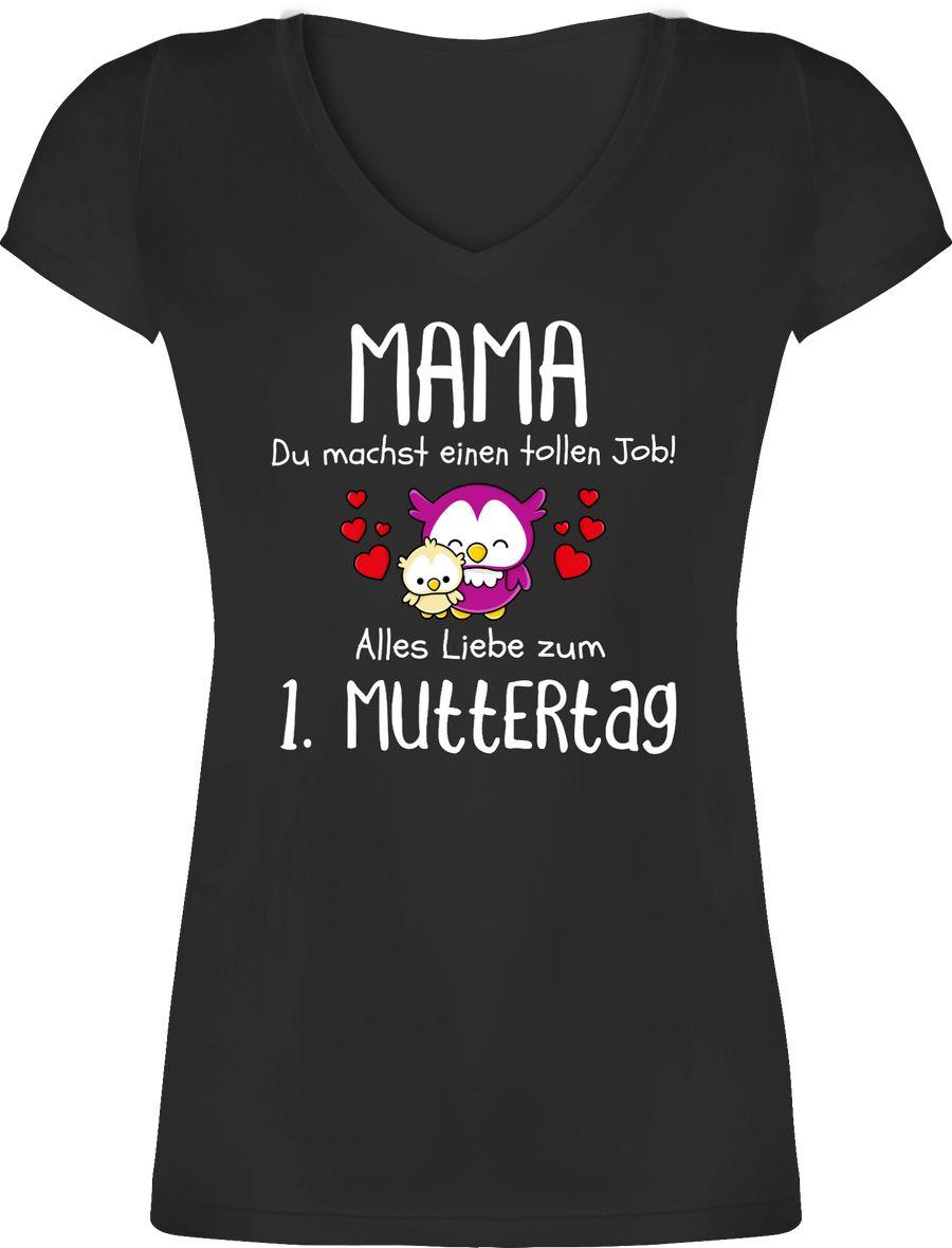 Mama du machst einen tollen Job alles Liebe zum 1. Muttertag weiß