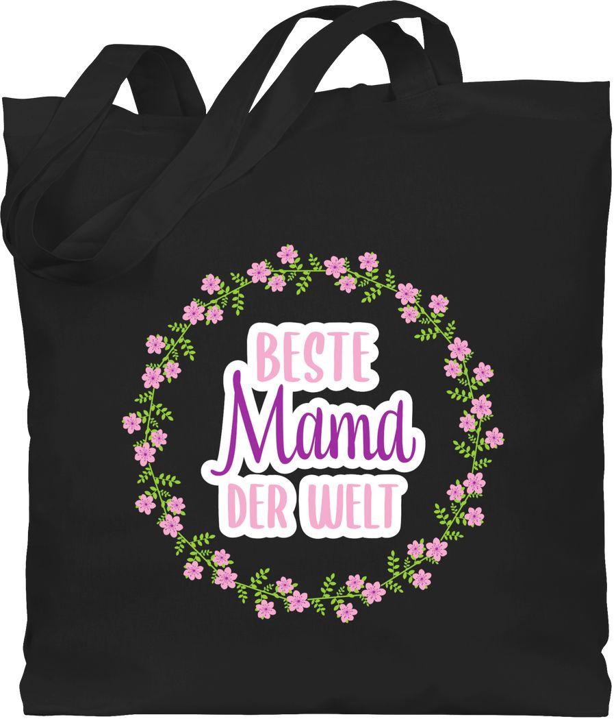 Beste Mama der Welt mit Blumenkranz