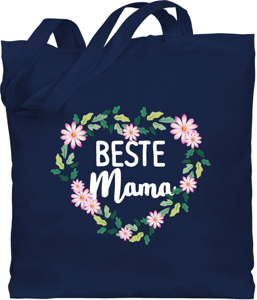 Beste Mama Blumenherz - weiß
