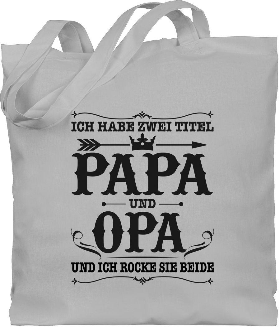 Ich habe zwei Titel Papa und Opa / Vintage - schwarz