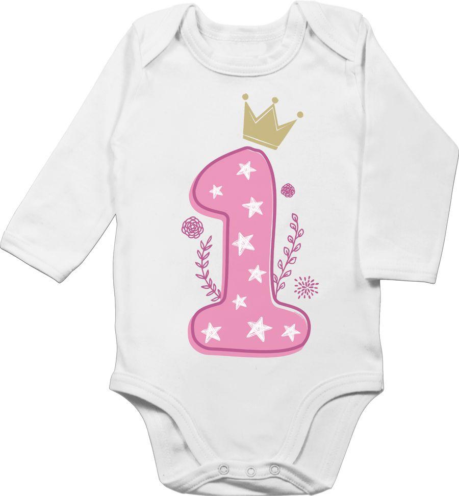 1. Geburtstag Mädchen Krone Sterne